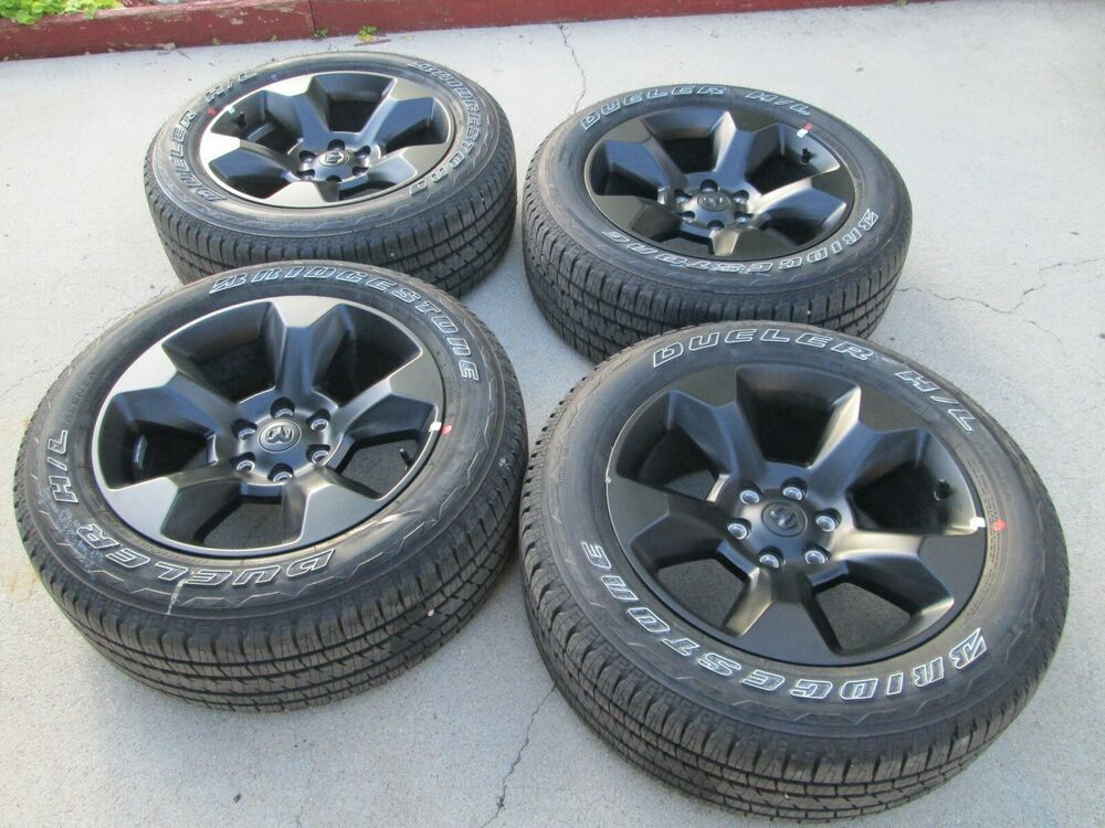 Advertisement Ebay 20 Dodge Ram 1500 Oem Factory Midnight Edition Black Wheels Rims 2019 Tires Black Wheels Wheel Rims Dodge Ram 1500