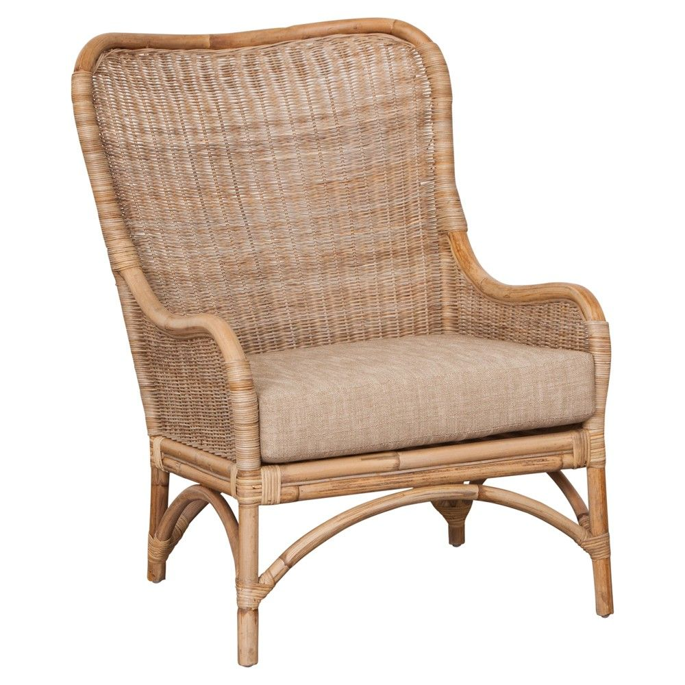 DOWNSTAIRS GUESTROOM: Carina Occasional Chair Rattan In SP162. Great price.  For far corner of room. Accent with a cushion