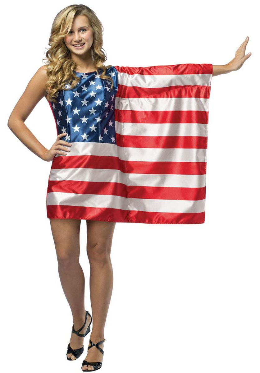 adult ametrican flag dress usa fancy dress   funny