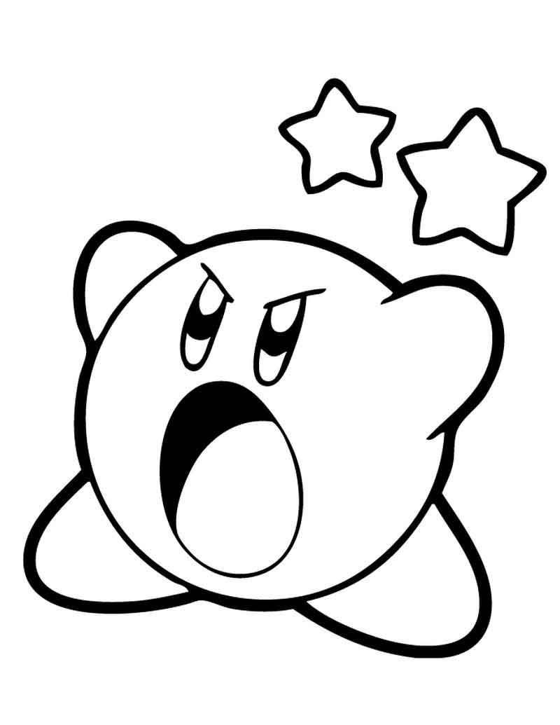 Kirby Coloring Pages  Mario coloring pages, Cartoon coloring