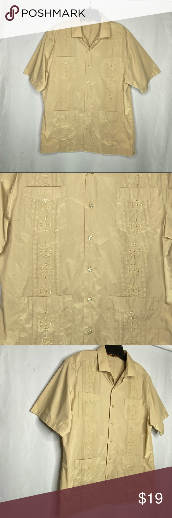Spotted while shopping on Poshmark: Havanera Embroidered Bowling Shirt! #poshmark #fashion #shopping #style #Havanera #Other