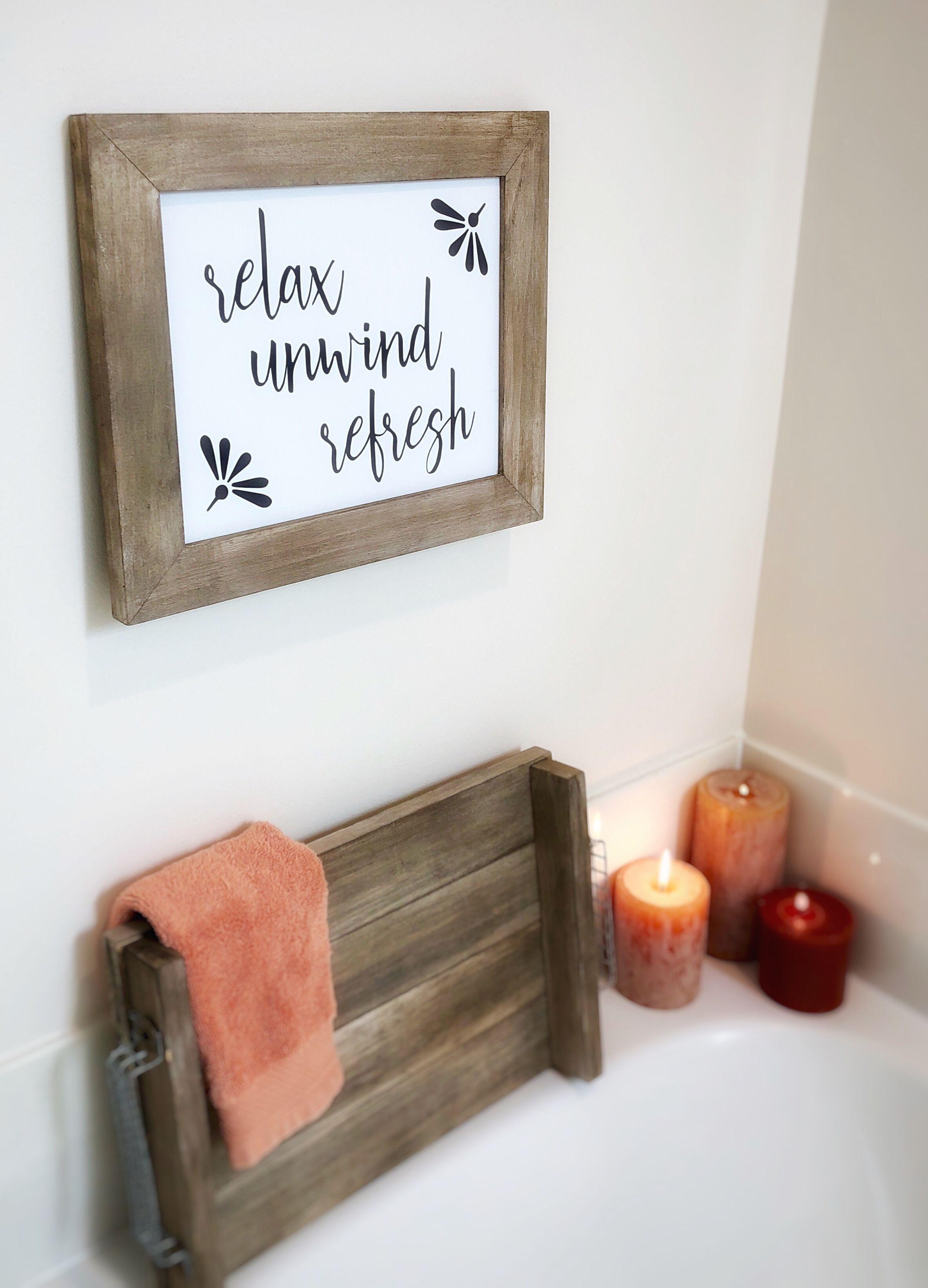 Relax Printable Art Bathroom Decor Instant Download Relaxing
