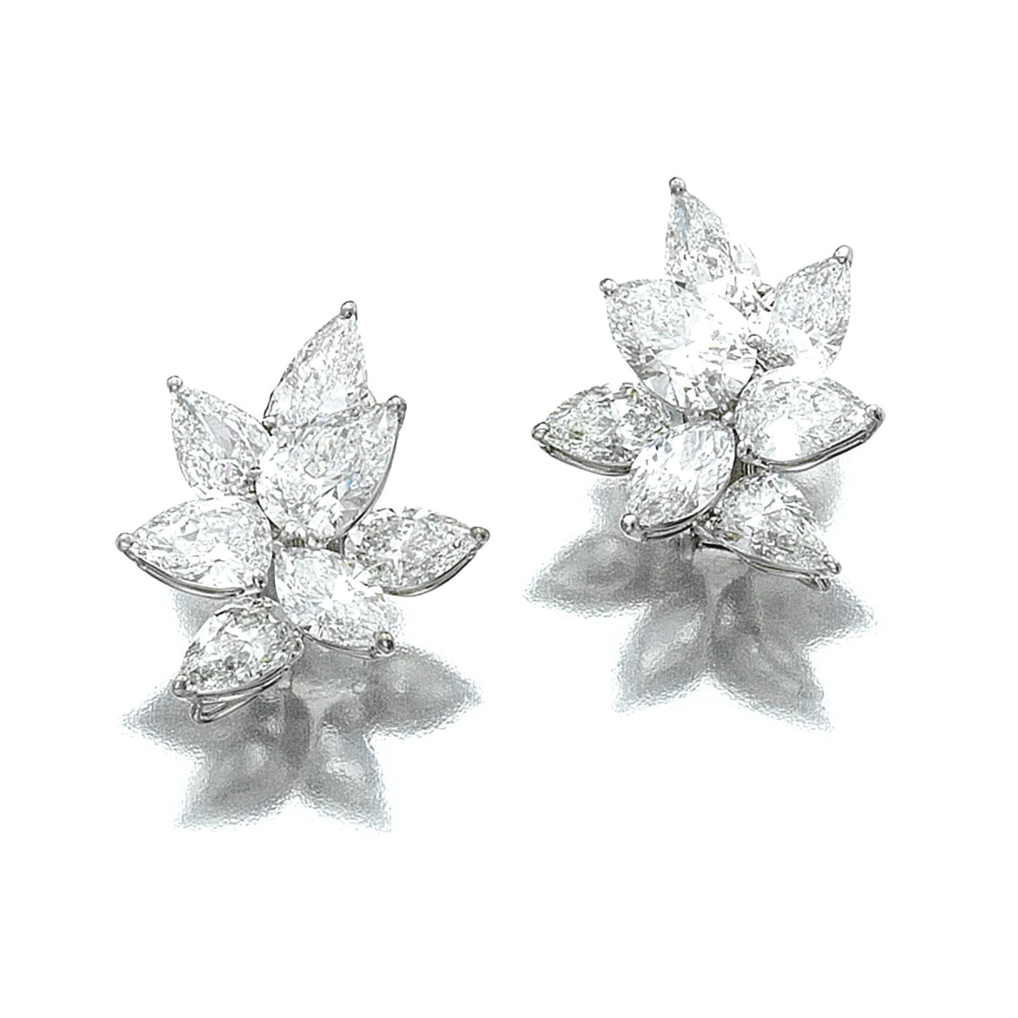 Pair of diamond ear clips   lot   Sotheby's