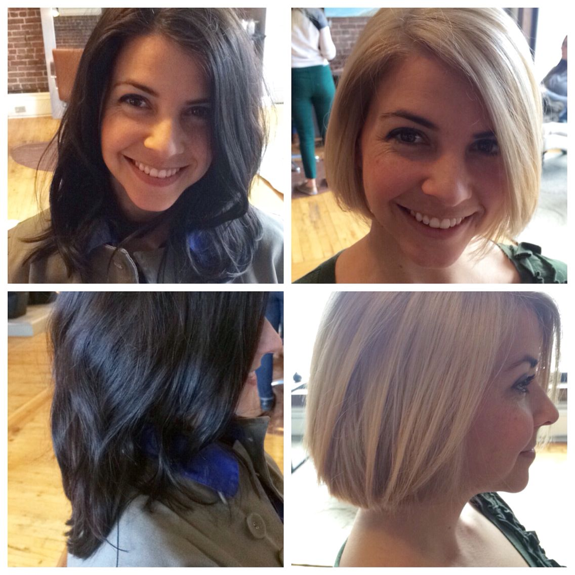 Before And After Long Brown Hair To Short Blonde Bob Brown Blonde Hair Hair Makeover Hair Inspiration Color