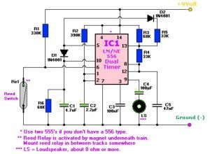 19a1f65c2fc12c69bc8f7300b564d425 two tone train horn based ne556 dual timer circuit diagrams a horn circuit diagram at edmiracle.co