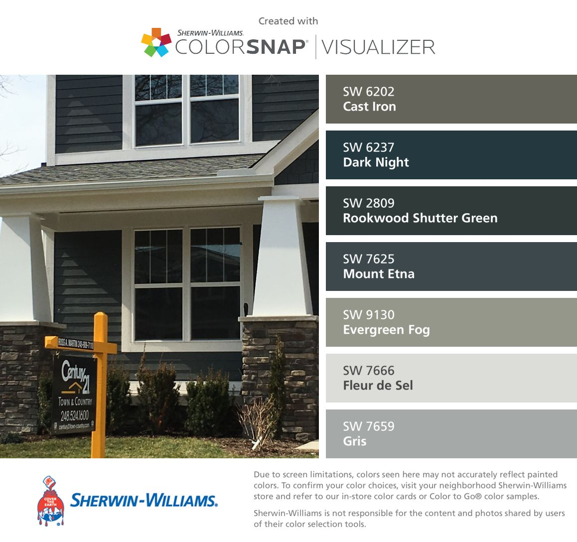 I Found These Colors With Colorsnap Visualizer For Iphone By Sherwin Williams Cast Iron Sw