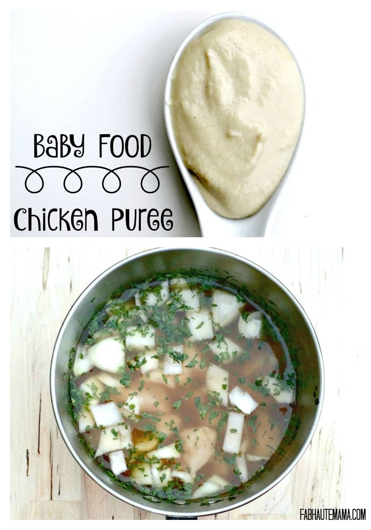 Chicken Baby Puree Recipe Baby Food Pinterest Baby Food