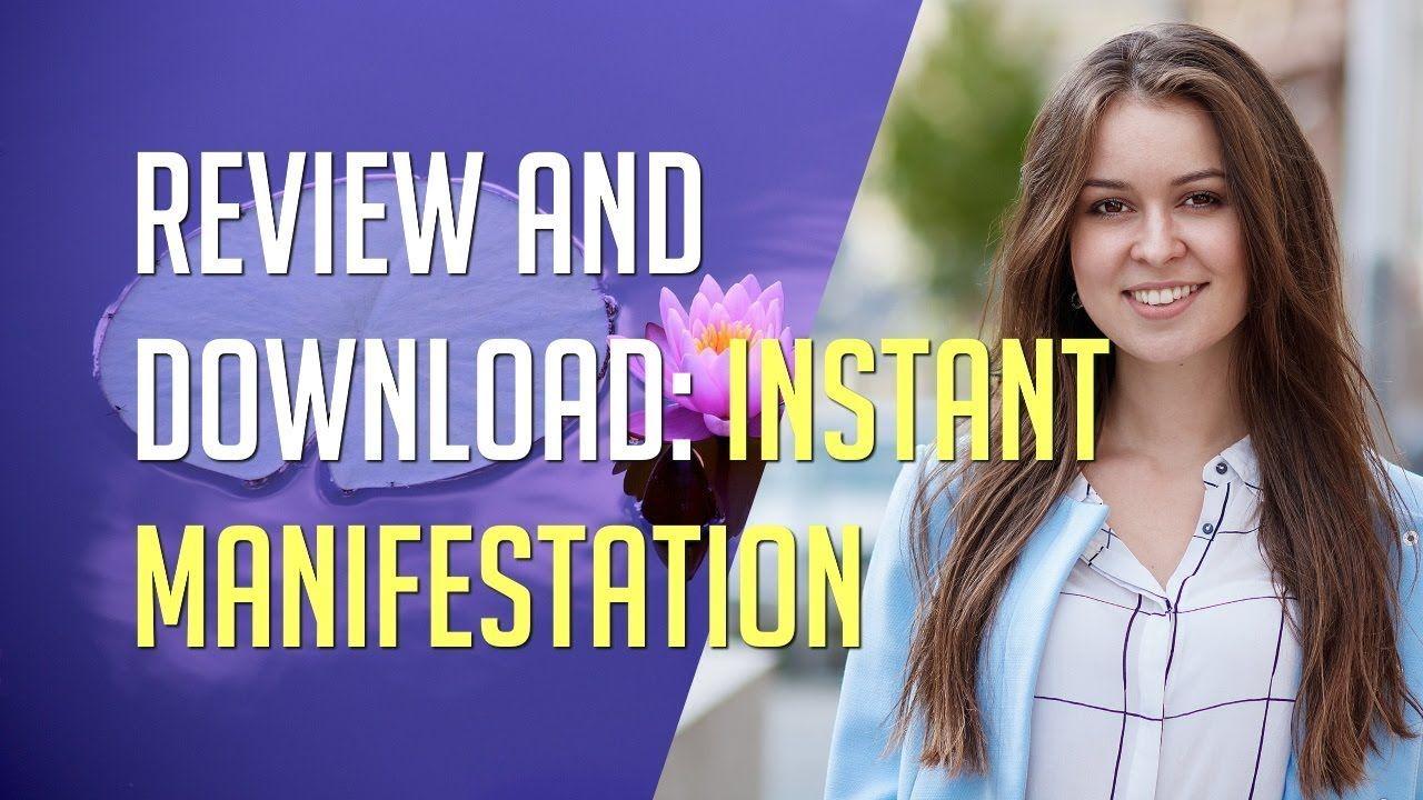 Instant manifestation secrets review download pdf