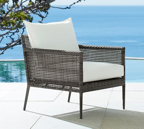 Cammeray All Weather Wicker Occasional Chair | Pottery Barn $499 Http://www