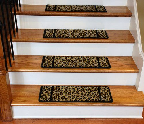 Best Premium Carpet Stair Treads Cheetah 13 Pack Carpet 400 x 300