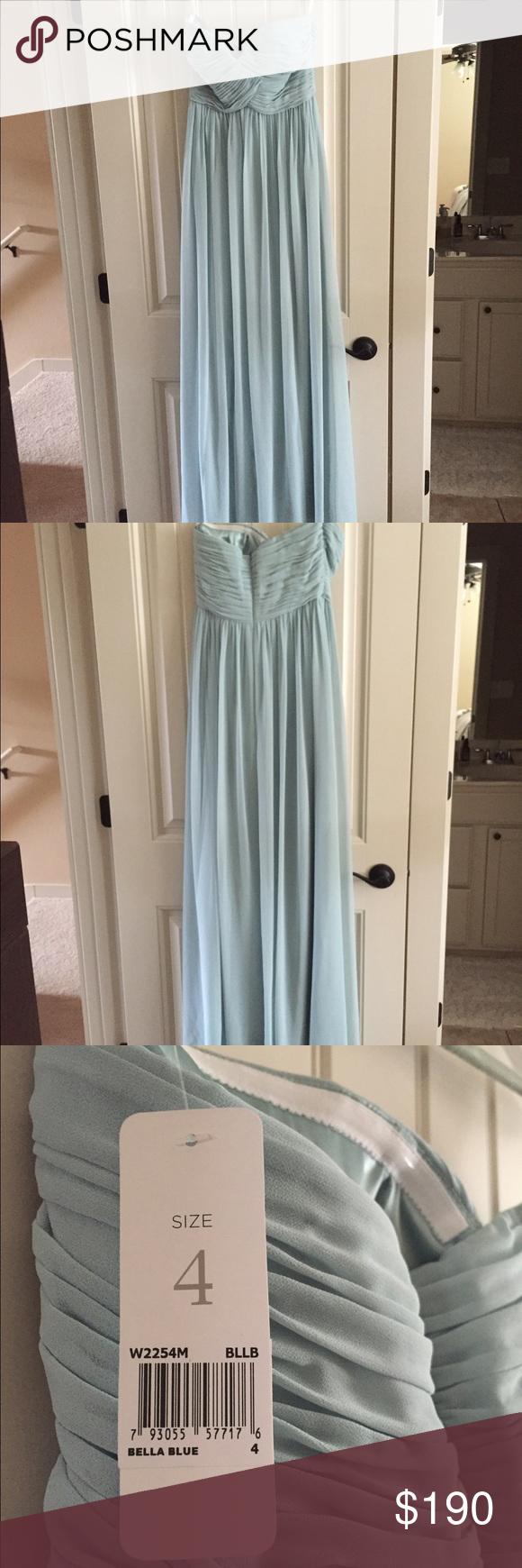 bedc3c44838 Donna Morgan Laura Bridesmaid Dress in Bella Blue Size 4