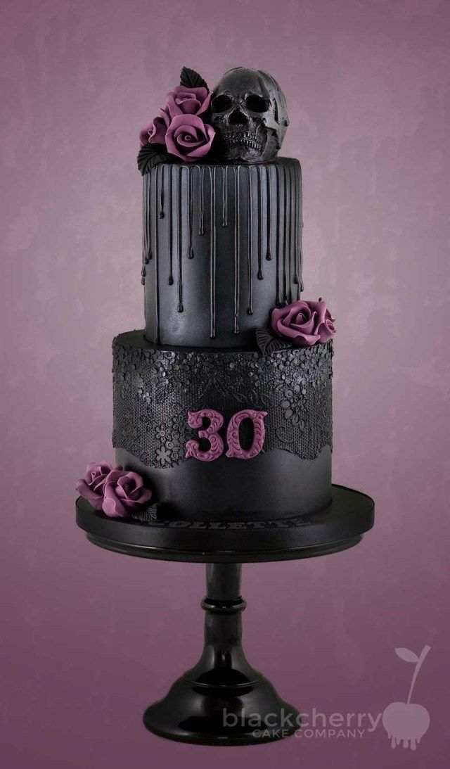 Tremendous 30 Inspiration Picture Of Gothic Birthday Cakes Taartontwerpen Birthday Cards Printable Benkemecafe Filternl