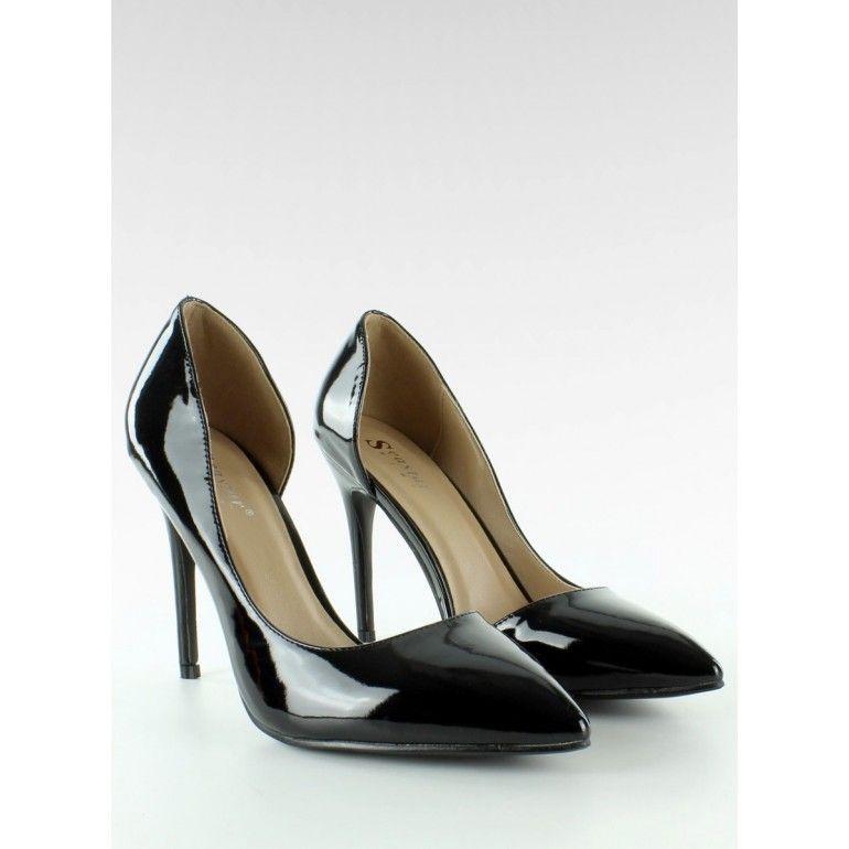 Piekne Szpilki Z Wcieciem Lt42 Czarny Tanie Buty Sklep Immoda Stiletto Heels Heels Shoes