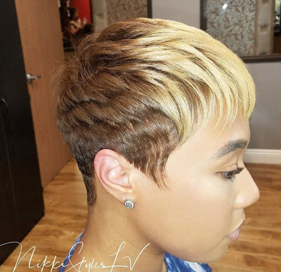 Nice cut and color by nikkistyleslv blackhairinformation