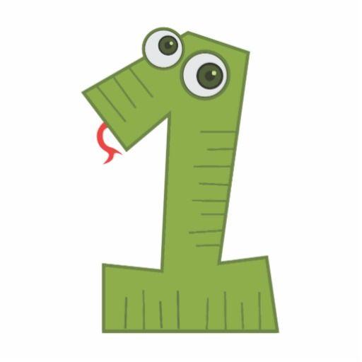Snake Number 1 Statuette Zazzle Com In 2021 Numbers Preschool Number Crafts Eureka Math