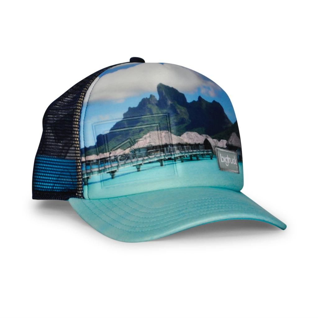 035eadc7e65a34 bigtruck Original Sublimated Hat Bali Blue Embossed Photography Series,  Emboss, Bali, Snapback,