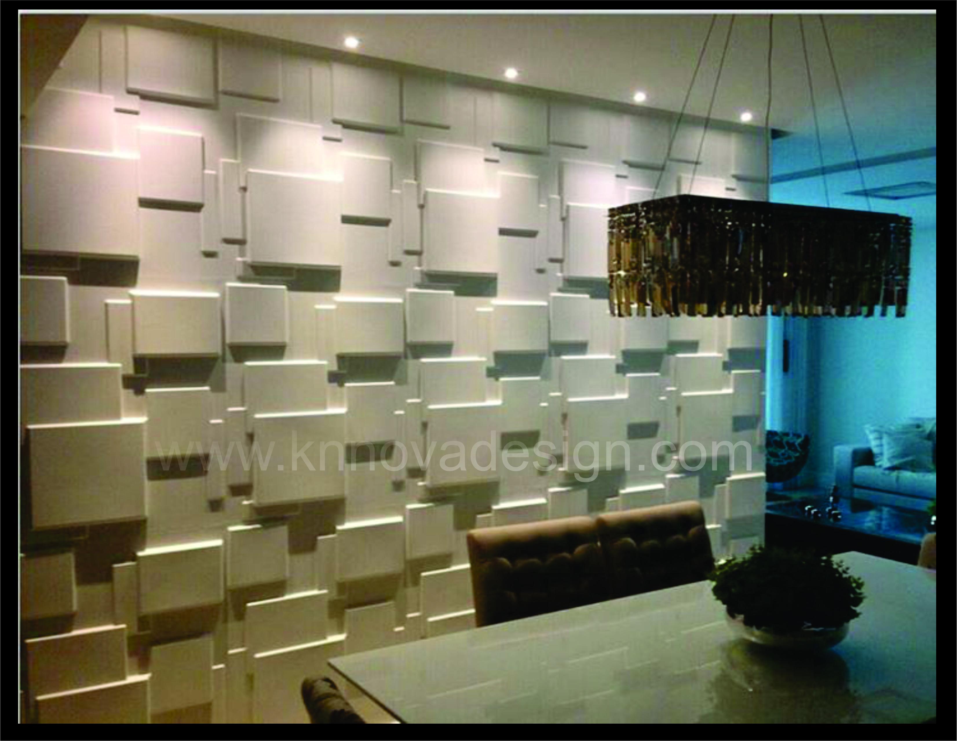 Paneles de muro para decoración de interiores. Acabado interior con paneles de muro