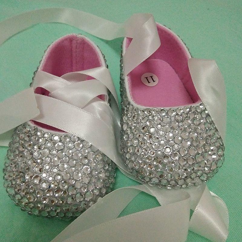 77abd07cd0 Click to Buy << free shipping ribbon silver rhinestone Crystal Baby ...