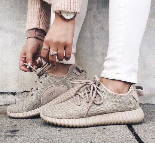 9b51974a9f0f9  32 -  299 All nude yeezy sneakers you can pair with cozy white pants and  pastel sweaters for a complete urban look.