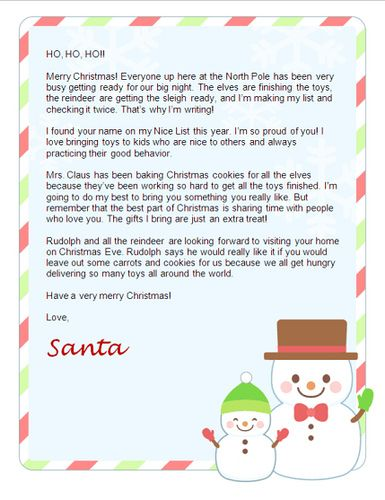 Letters From Santa Nice Way To Remind Your Kids Its Not All About The Gifts