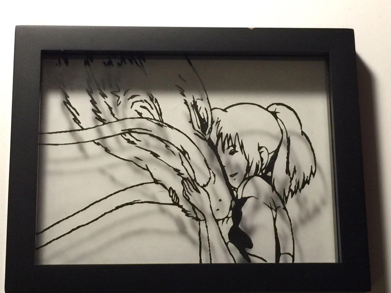 Anime frames art spirited away by fornerdbynerd on etsy