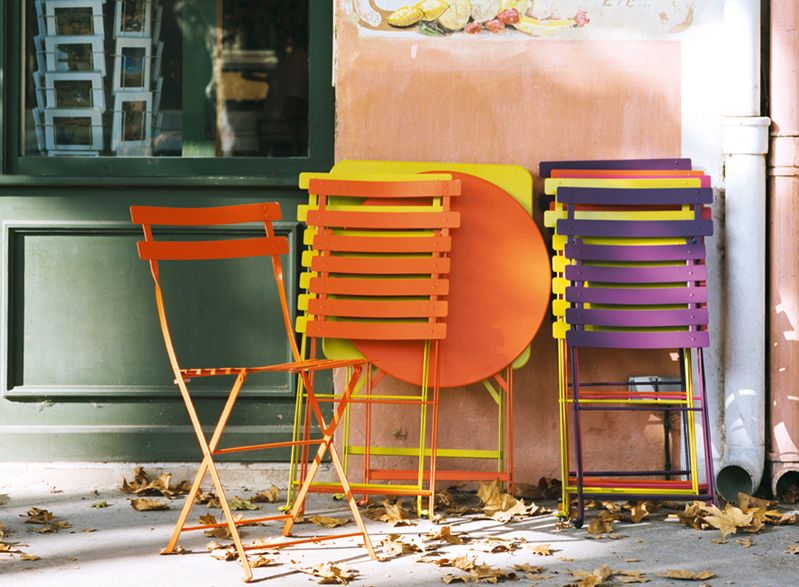 Bistro folding metal chair by Fermob | Oikos SPACES | Pinterest ...