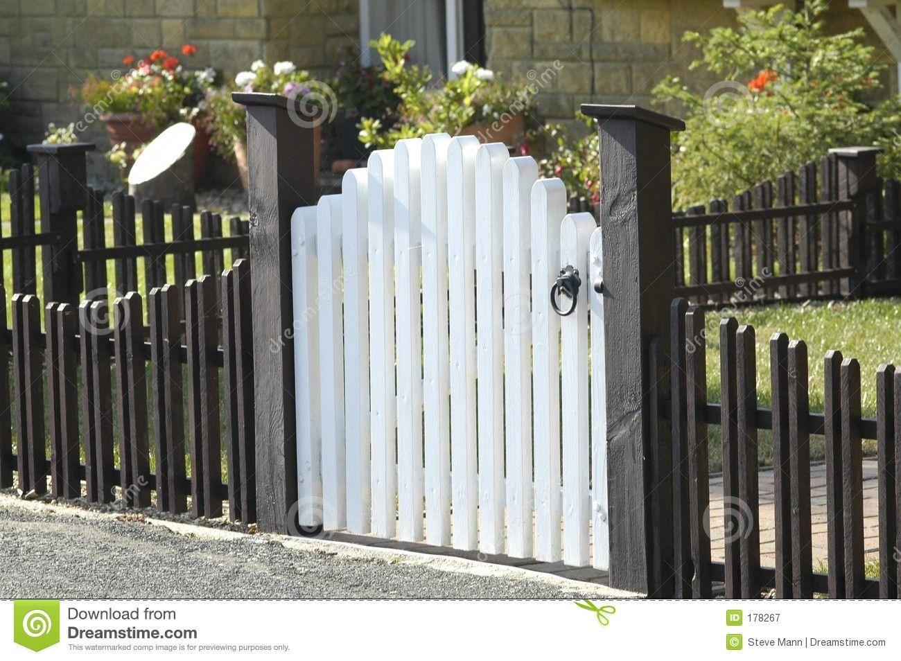 Hardware fences pinterest fences picket fence gate and gate white picket fence gate stock photos royalty free images workwithnaturefo