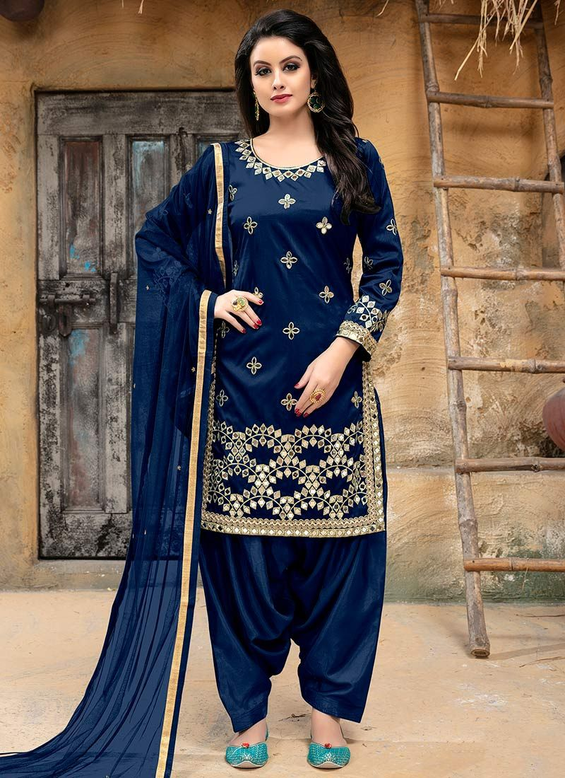 04bfe608ce Blue Embroidered Salwar Suit. For latest deals and coupons from Cbazaar  visit https:/