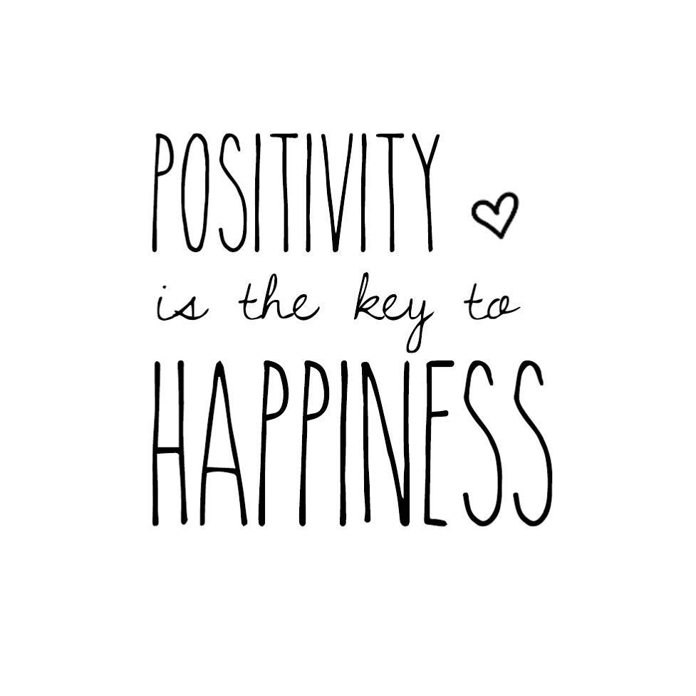 A Word Of Happiness: Positivity Is The Key To Happiness ♡