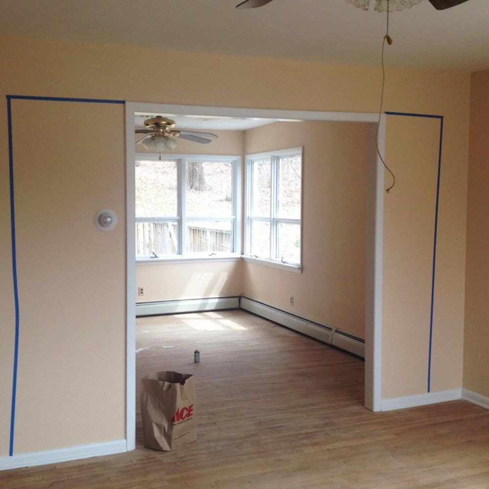 Open up wall between dining room and kitchen (With images ...