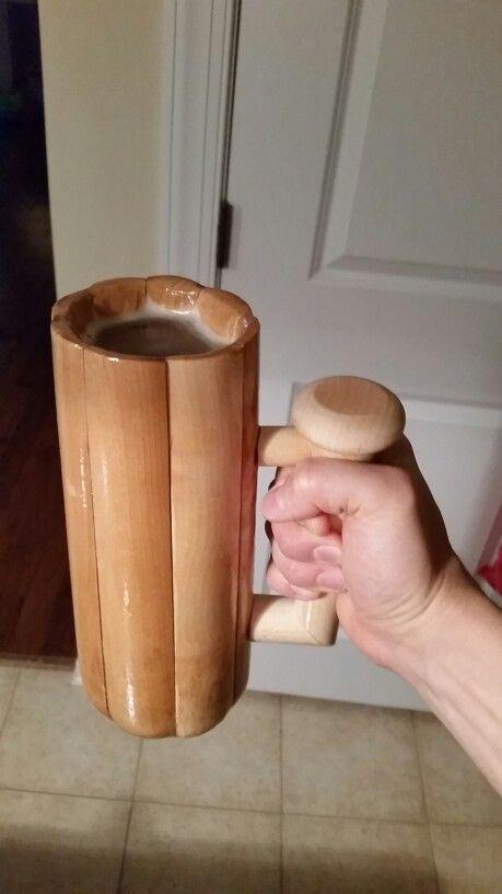 Baseball Bat Beer Mug With Handle Leak Tested
