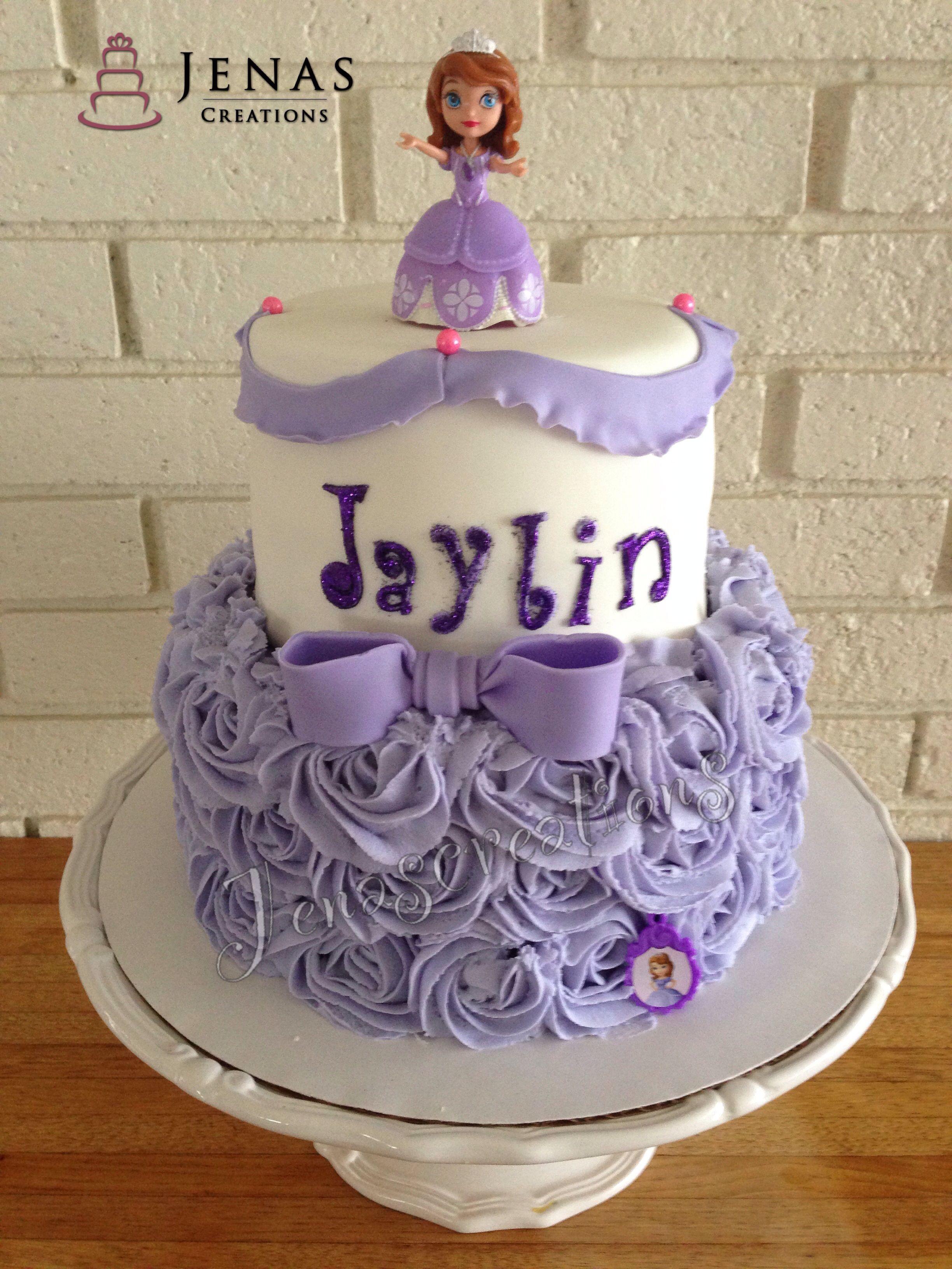Astonishing Sofia The First Theme Cake Birthday Cake Sofia The First With Personalised Birthday Cards Arneslily Jamesorg