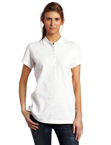 6a8f961fc Dickies Women's Solid Pique Polo Shirt, White, Small Dickies-$16 ...