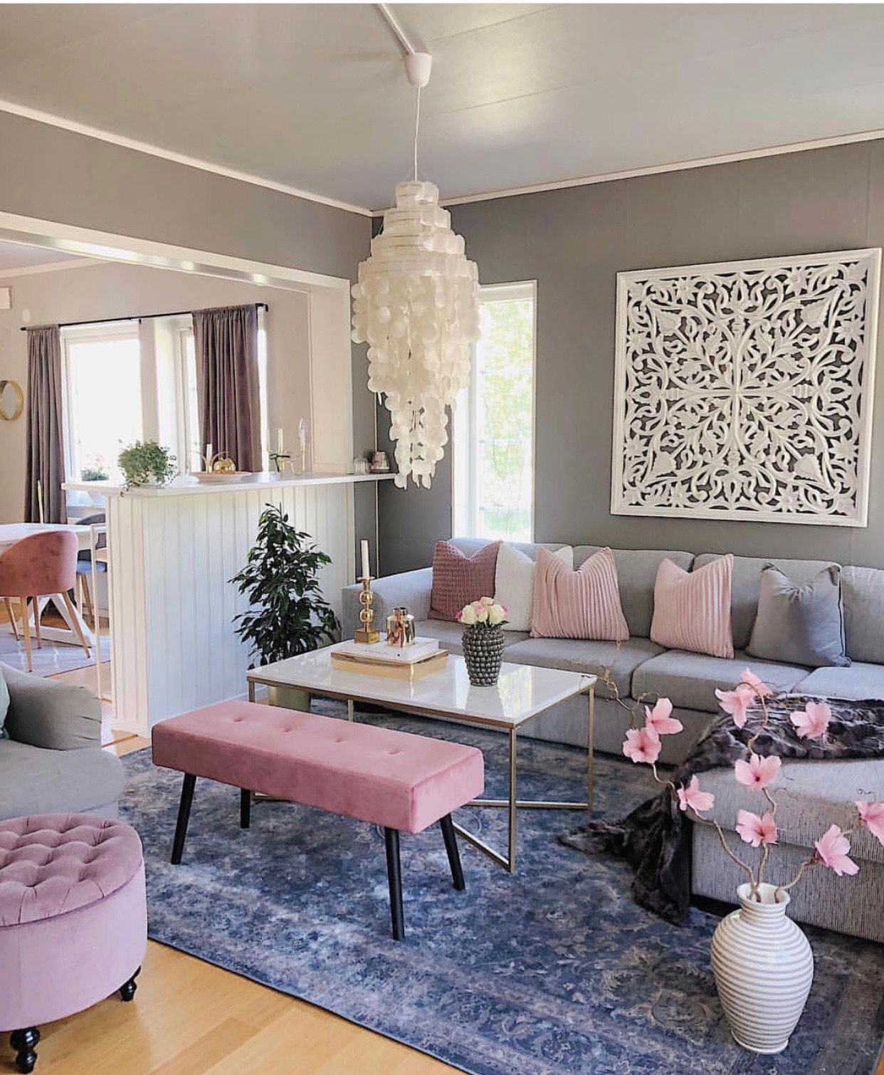 Office color scheme | Pink living room, Interior wall ...