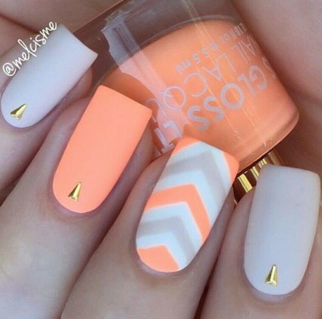 Orange sorbet. - Nail Art ☆ | Pinterest