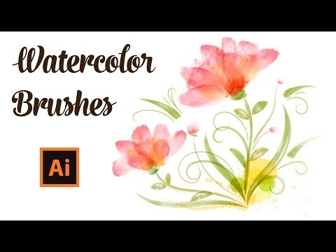 Draw With Watercolor Brushes In Adobe Illustrator Youtube