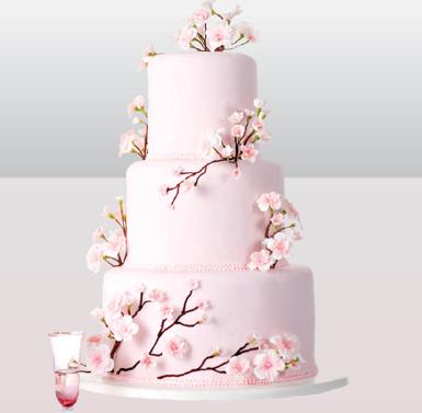 Wedding Wednesday Cherry Blossom Wedding Inspiration The Perfect Details Cherry Blossom Wedding Cake Cherry Blossom Cake Pink Wedding Cake