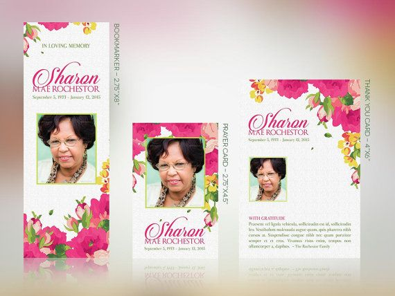 Floral Funeral Stationery Template Set Publisher by Godserv | Best ...