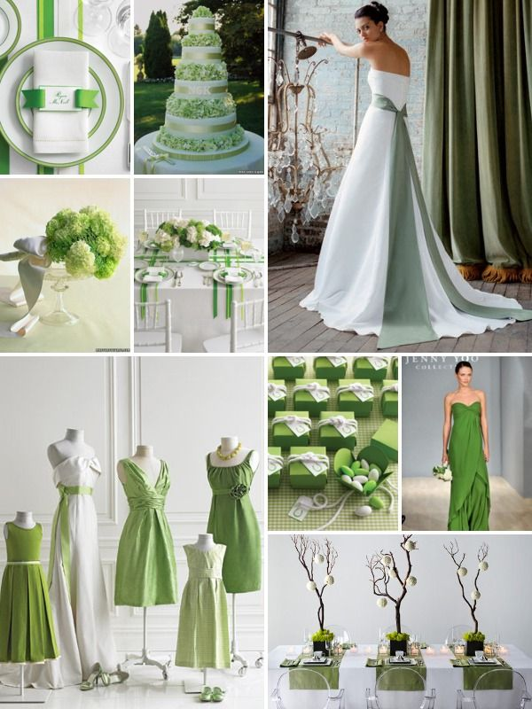 Green With Envy | Silver wedding decorations, Green weddings and ...