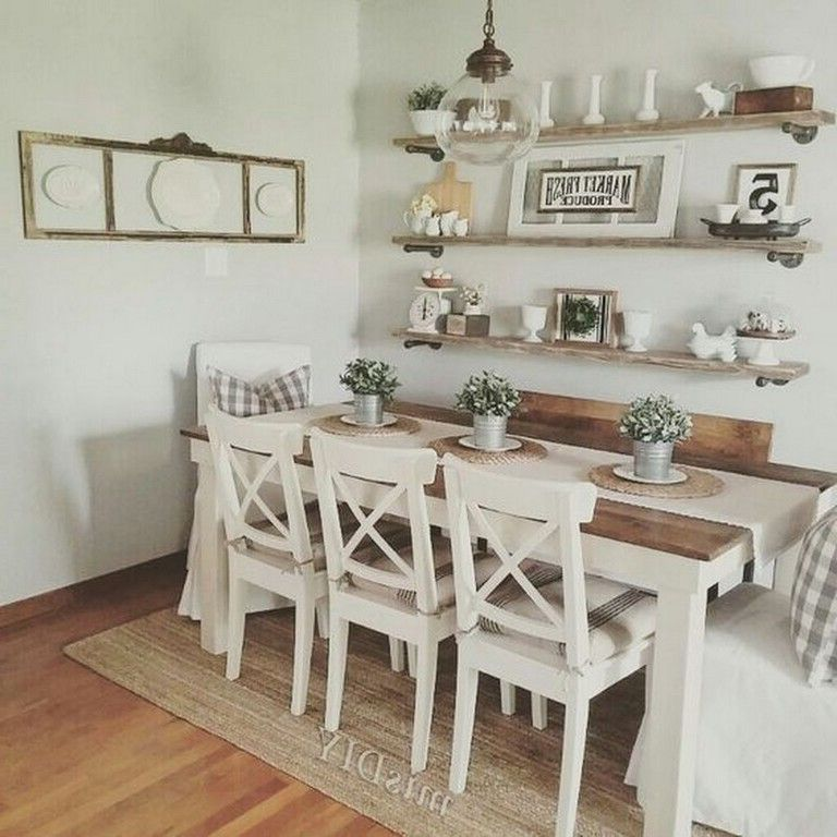 21 Corner Dining Sets Designs Decorating Ideas: 35+ Cozy Farmhouse Dining Room Design Ideas