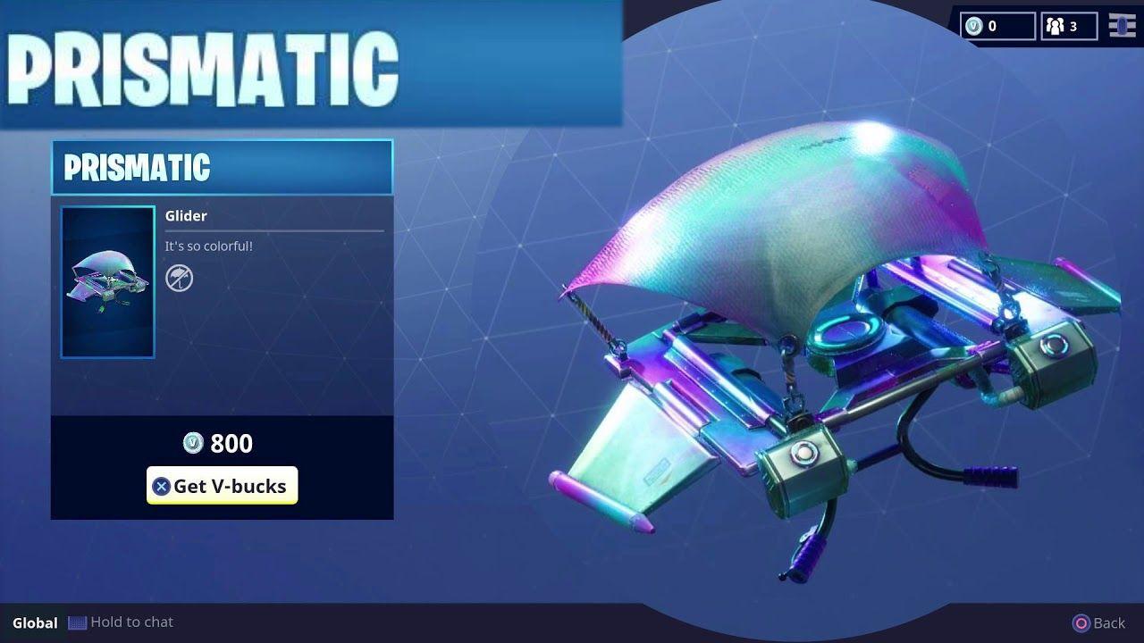 Rare Prismatic Glider Skin Weekly Item in Fortnite Battle