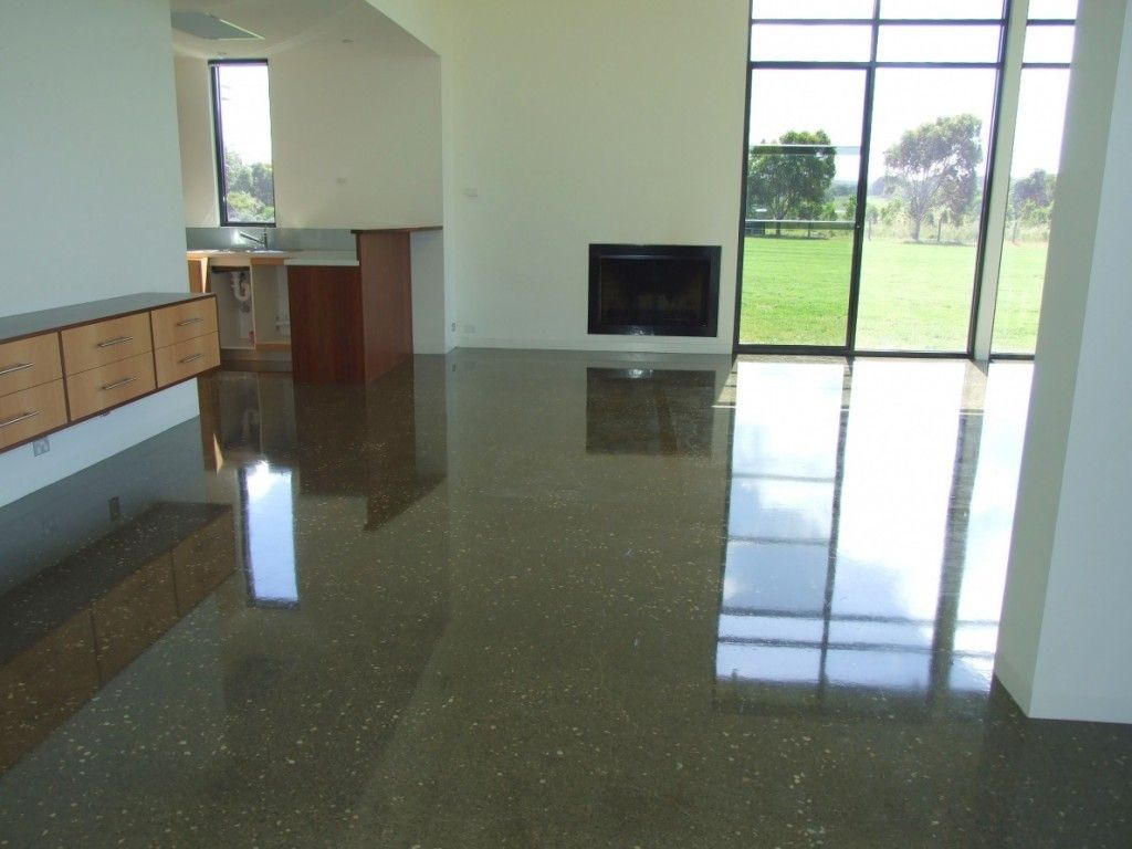 Pros And Cons Of Concrete Flooring Concrete Floors Polished Concrete House Flooring