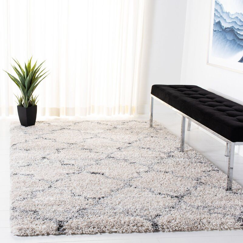 Chantay Geometric Gray Ivory Area Rug In 2021 Cool Rugs Classic Tile Design Rugs