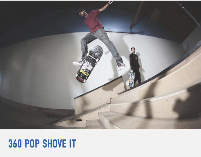 How To 360 Pop Shove It Braille Skateboarding Pop Learning Skateboard