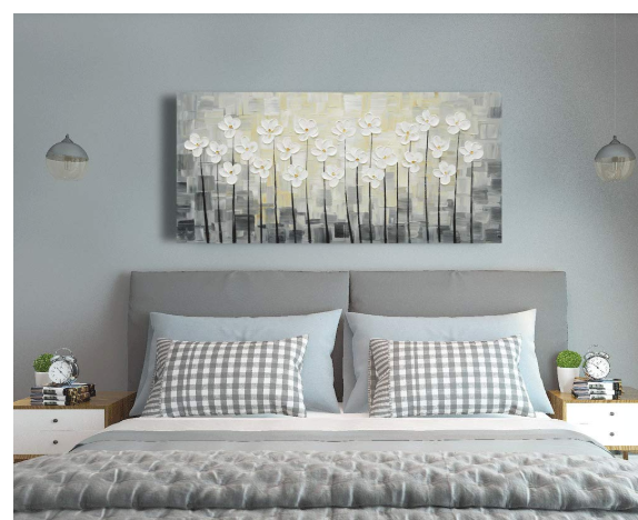 Yihui Arts Canvas Wall Art White Flowers Pictures Bloosom Modern Floral Pallet Knife Painting Prints In 2020 Home Decor Living Room Office Canvas Wall Art