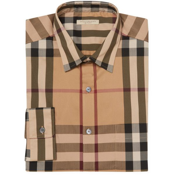 burberry plaid shirt mens