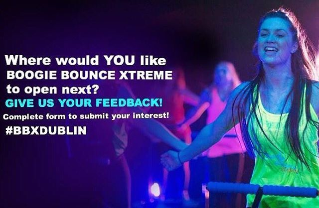 WHERE WOULD YOU LIKE BOOGIE BOUNCE XTREME TO OPEN NEXT? ⚡️GIVE ME YOUR INPUT & GET UPDATES OF NEW CLASSES NEAR YOU - go to Facebook.com/BBXDUBLIN to submit your interest  Boogie Bounce Xtreme is a DISCO fitness class on Mini Trampolines!! More info: www.boogiebounce.ie / Boogie Bounce Xtreme Dublin 5  #BBXDublin #Boogiebounce #irishfitfam #exercise #dublin #ireland #fitness #boogiebounceireland #fit #lovindublin #party #dublinfitfam #slimmingworldireland #bodymagic #weightloss