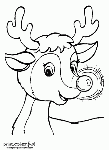 Rudolph Red Reindeer Printable Christmas Coloring Pages Free Christmas Coloring Pages Christmas Coloring Sheets