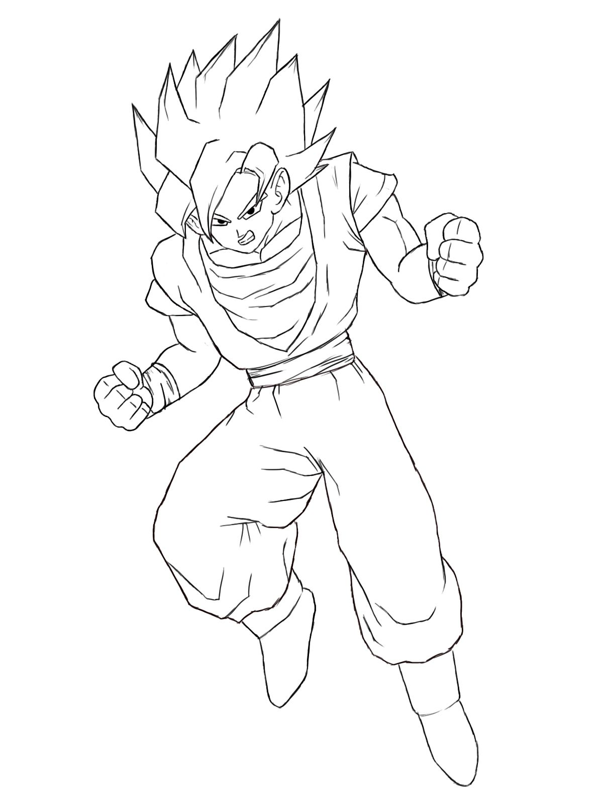 Goku Drawing Easy Full Body : drawing, Sketch, Drawing