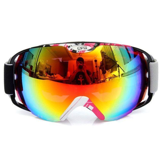 UnisexProfessional Spherical Anti-fog Dual Lens Snowboard Ski Goggle Eyewear